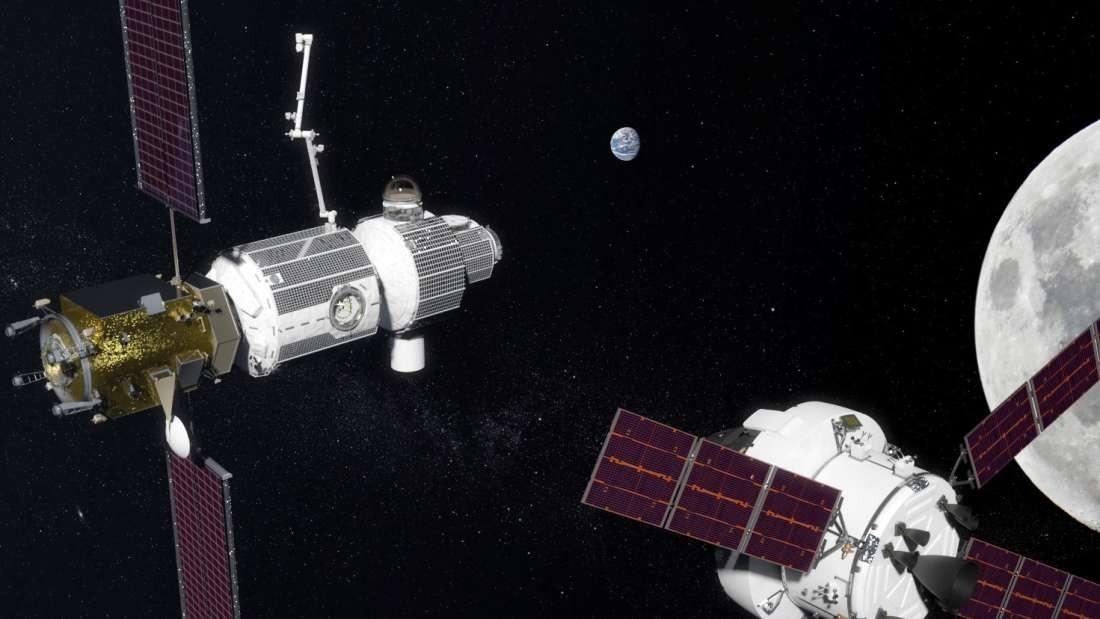 Modelo dos módulos lunares quer serão lançados pelos Estados Unidos (Foto: Divulgação/NASA)