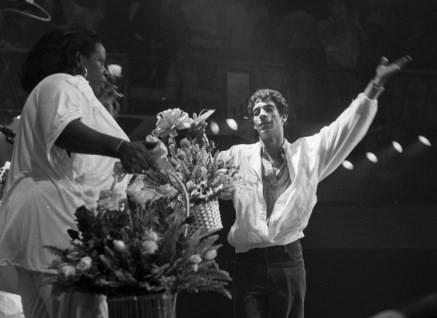 O artista na casa de shows Asa Branca, em 1988