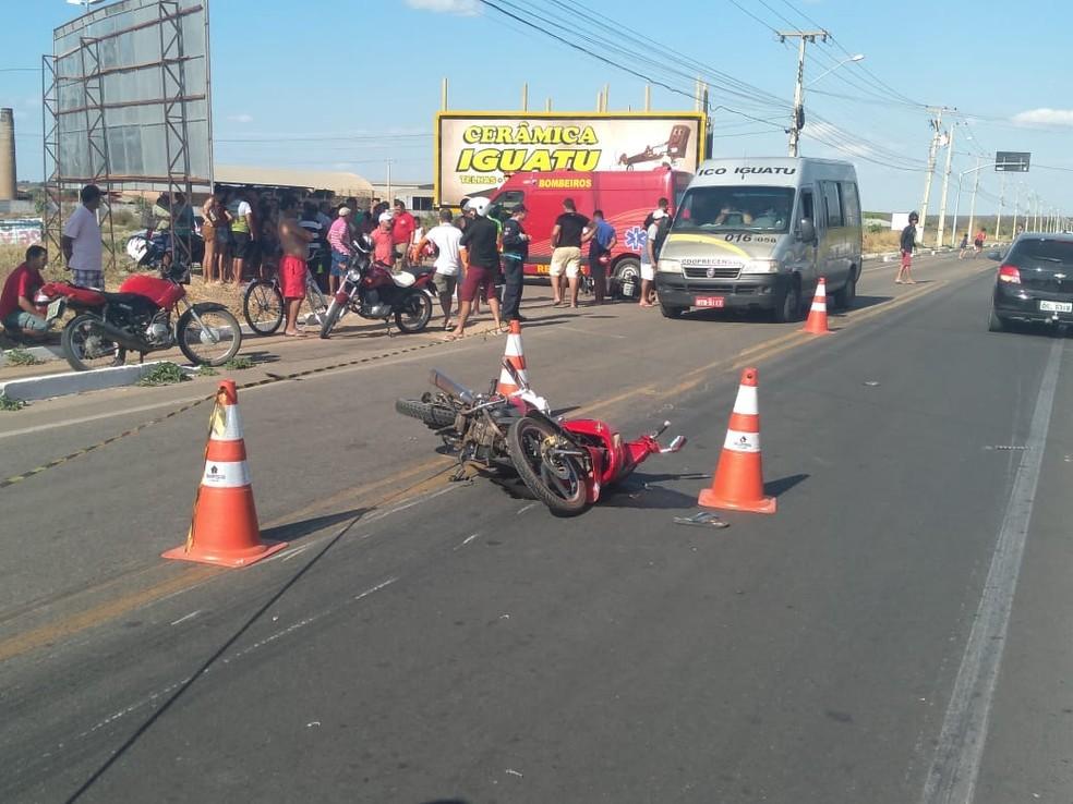 A via ficou interditada parcialmente após acidente no interior do Ceará. — Foto: Divulgação