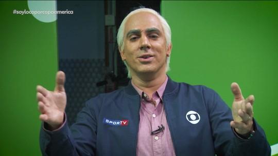 Soy Loco por Copa América: Adnet imita Milton Leite e cria seguro com a marca do narrador