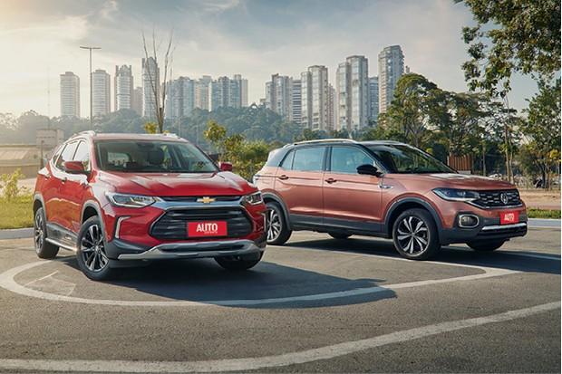 Comparativo Chevrolet Tracker e Volkswagen T-Cross (Foto: Fabio Aro)