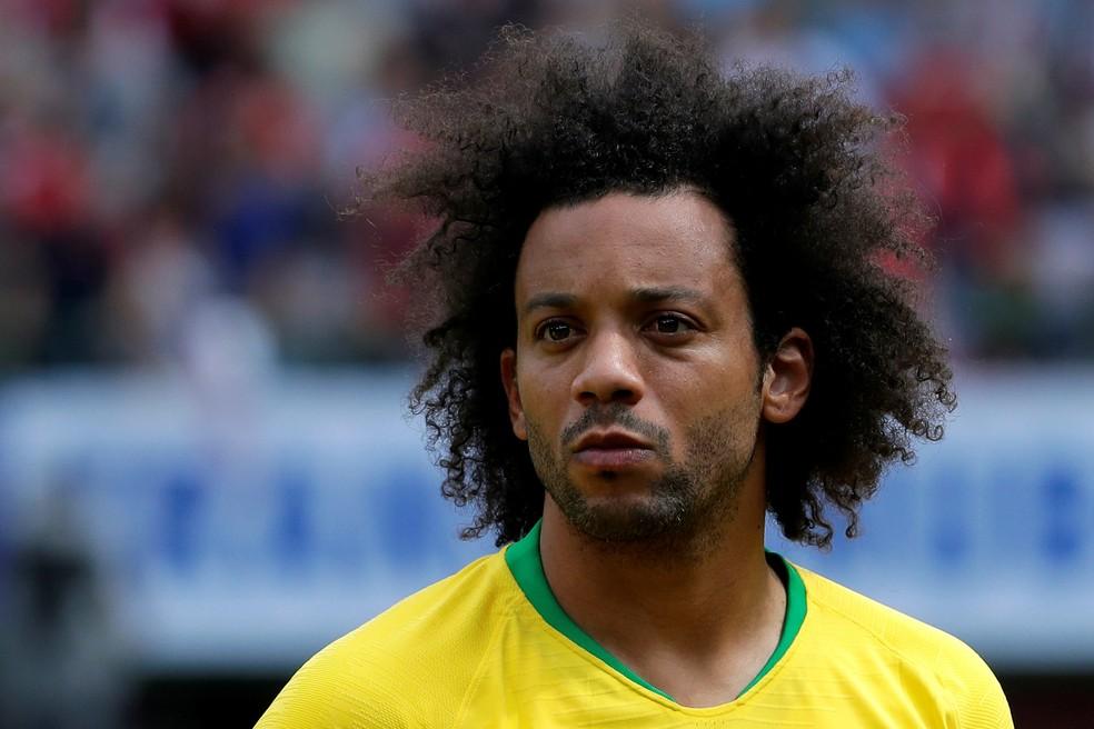 """Marcelo foi o mais escalado pelos internautas na """"Seleção ideal"""" da Copa da Rússia (Foto: Heinz-Peter Bader/Reuters)"""