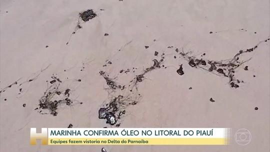 Manchas de óleo atingem mais praias no Delta do Parnaíba
