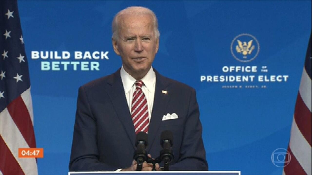 Joe Biden fala sobre seu plano de recuperação econômica em meio à pandemia