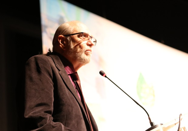José Alberto Sampaio Aranha, presidente da Anprotec, na conferência de 2018  (Foto: Lucas Borges/Divulgação)