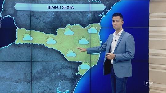Santa Catarina terá tempo estável e presença de sol nesta sexta-feira