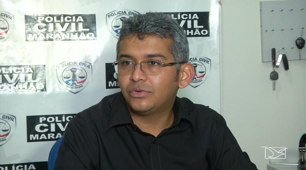 Delegado de Balsas, Fagno Vieira — Foto: Reprodução/TV Mirante