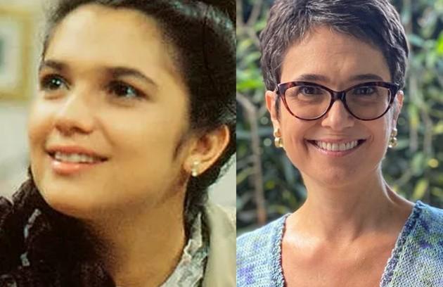 """Sandra Annenberg foi atriz antes de se tornar jornalista. Ela relembrou a época numa homenagem a Luís Gustavo: """"A primeira vez que apareci na TV foi ao lado do Tatá. Eu tinha 6 anos de idade"""" (Foto: Reprodução)"""