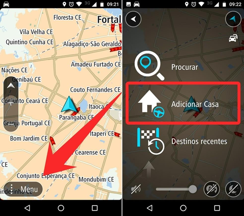 Adicionando o endereço de sua casa no TomTom Go Brasil (Foto: Reprodução/Felipe Alencar )