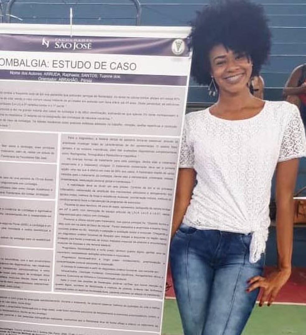 Tuanne pretende conseguir um emprego logo após se formar para pagar a dívida — Foto: Arquivo pessoal