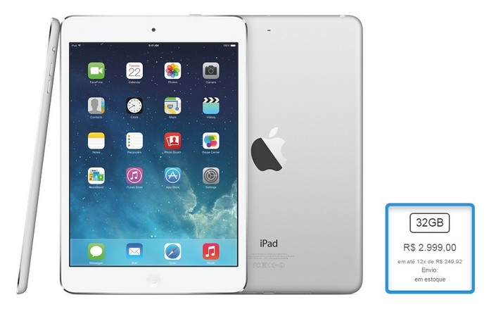iPad Air Wi-Fi + Cellular de 32 GB teve aumento de 36,38% (Foto: Reprodu??o/Apple)