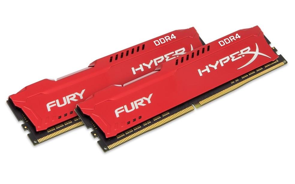Aumentar a quantidade e a velocidade da memórias RAM pode deixar o PC mais rápido — Foto: Divukgação/ HyperX