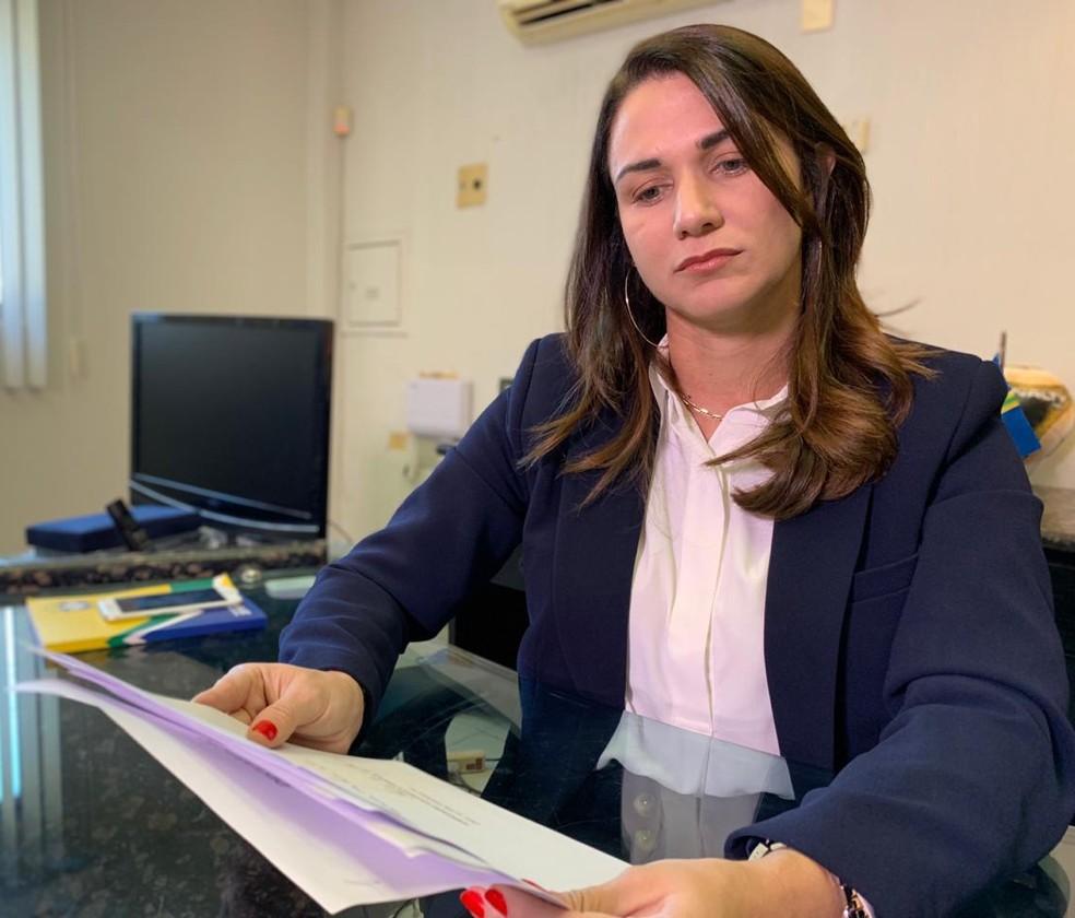 Mandatária da FPF, Michelle Ramalho deve abrir um processo administrativo contra o Serrano-PB — Foto: Lucas Barros / TV Cabo Branco