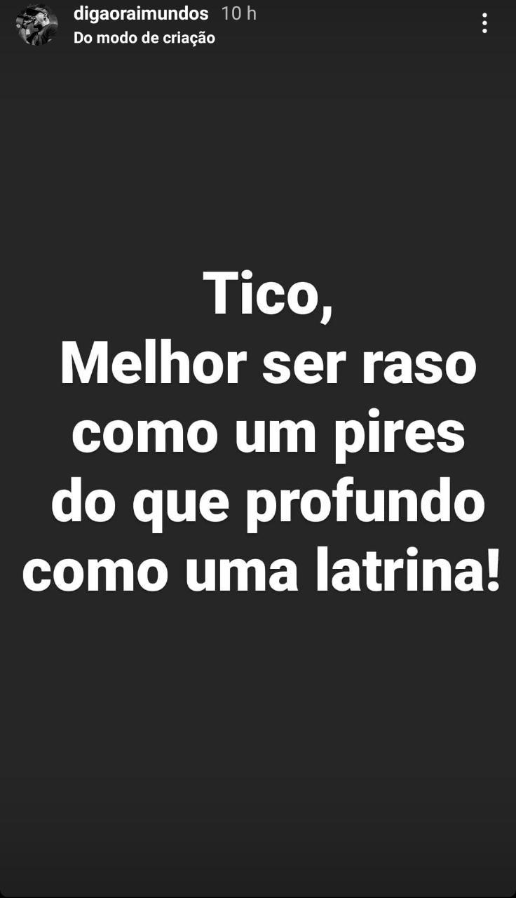 Digão critica Tico Santa Cruz (Foto: Reprodução: Instagram)