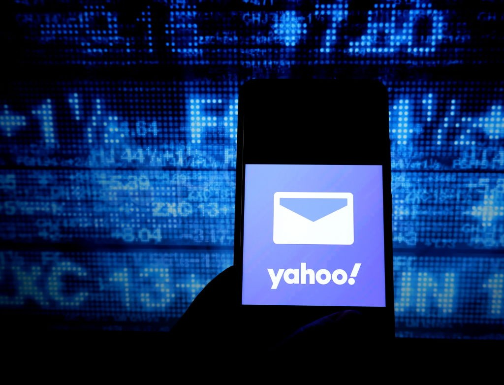 INDIA - 2019/10/09: In this photo illustration a popular mail application yahoo mail logo seen displayed on a smartphone. (Photo Illustration by Avishek Das/SOPA Images/LightRocket via Getty Images) (Foto: SOPA Images/LightRocket via Gett)