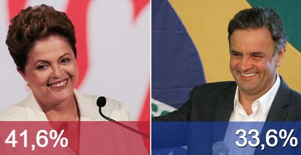 Aliados de Marina defendem apoio a Aécio (Ueslei Marcelino/Reuters e Lincon Zarbietti/AFP)