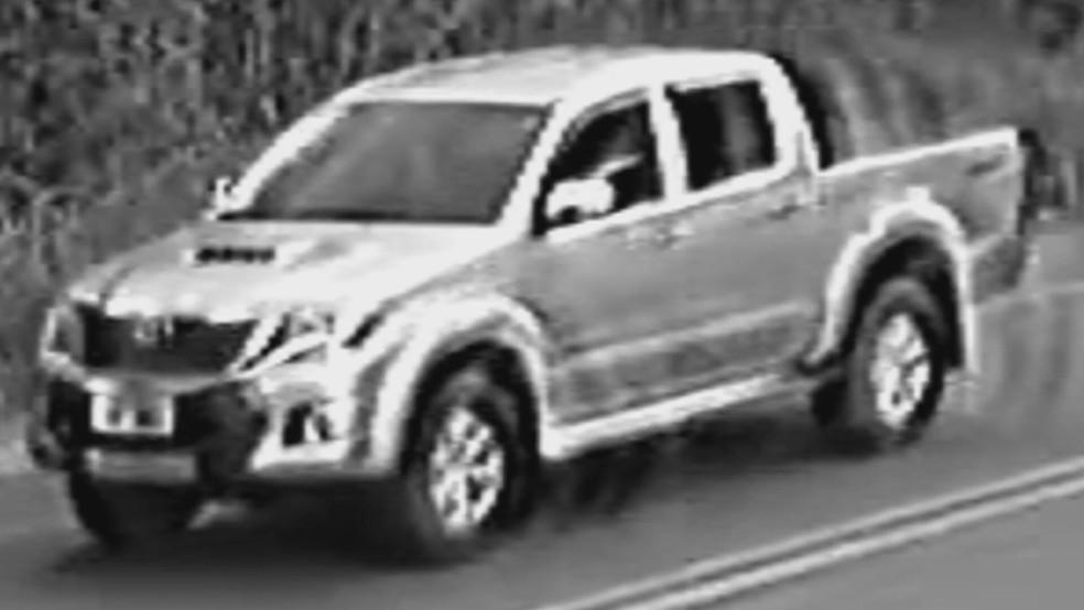 Polícia Civil divulga imagem de carro suspeito de atropelar menina de 4 anos na DF-130, no Núcleo Rural Rajadinha, em Planaltina  — Foto: PCDF/Divulgação
