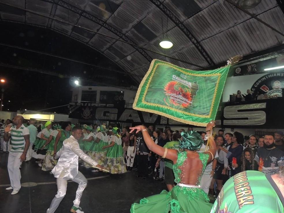 Mais um registro da Camisa Verde e Branco na quadra da Gaviões da Fiel — Foto: Arquivo pessoal