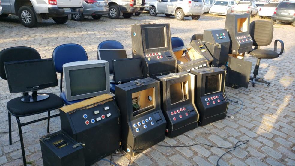 Máquinas caça-níquel apreendidas em Natal — Foto: Polícia Civil/Divulgação