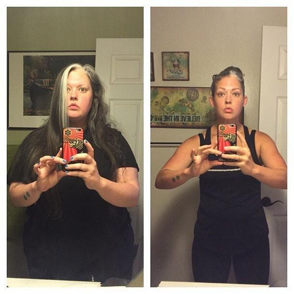 Antes e depois de Misty Mitchell (Foto: Reprodução/Instagram)