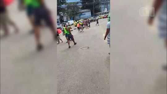 Manifestação interrompe o trânsito no Estácio