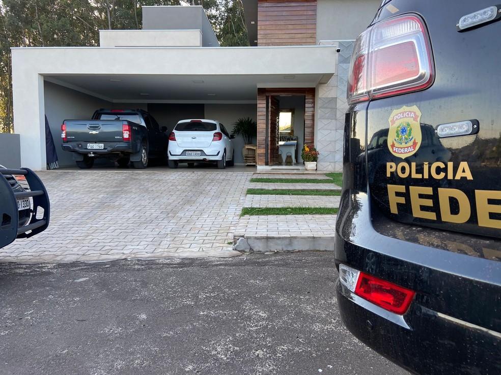 Um dos locais onde PF cumpriu mandados— Foto: PF/Divulgação