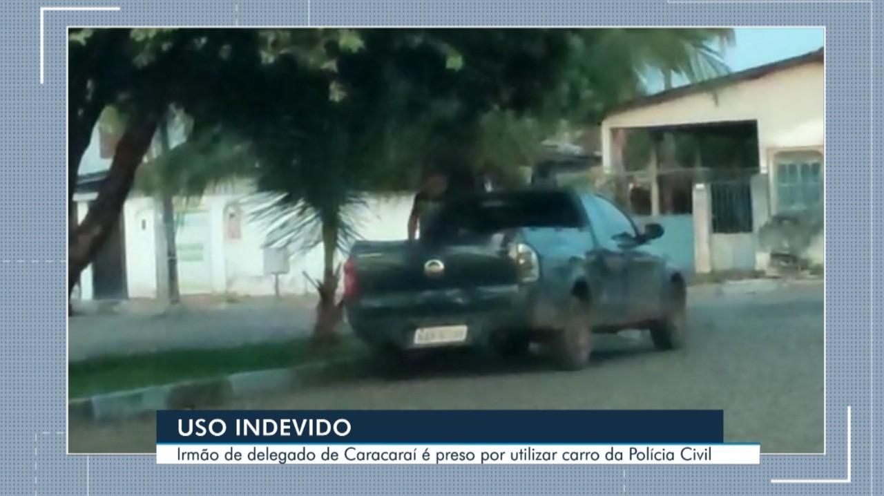 Imagens mostram irmão de delegado usando carro da Polícia Civil de RR em outras três ocasiões
