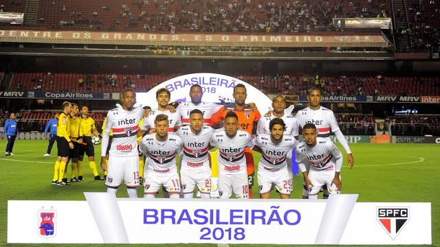 São Paulo antes da partida contra o Paraná