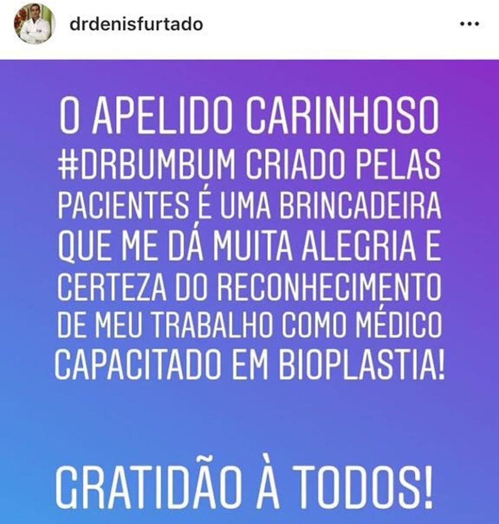 """""""Dr. Bumbum"""" tem 645 mil seguidores no Instagram (Foto: Instagram/Reprodução)"""