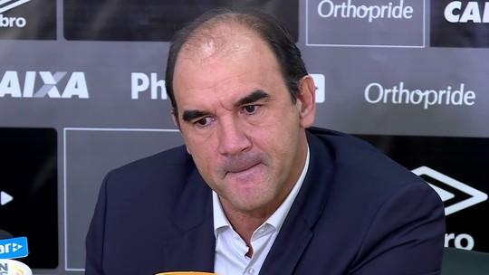 Ricardo Gomes admite busca por três reforços e defende Jair Ventura no Santos