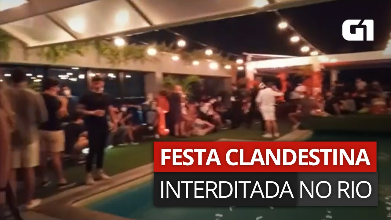 VÍDEO: Festa clandestina é interrompida em Copacabana