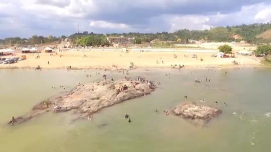 Praias do Rio Xingu são atração no verão paraense