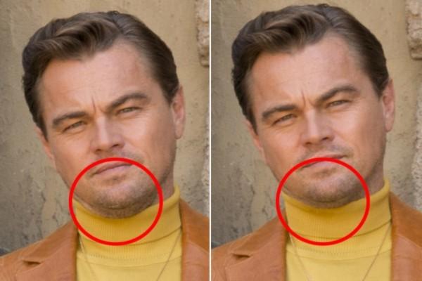 Foto de Leonardo DiCaprio passou por retoques no Photoshop (Foto: Reprodução)