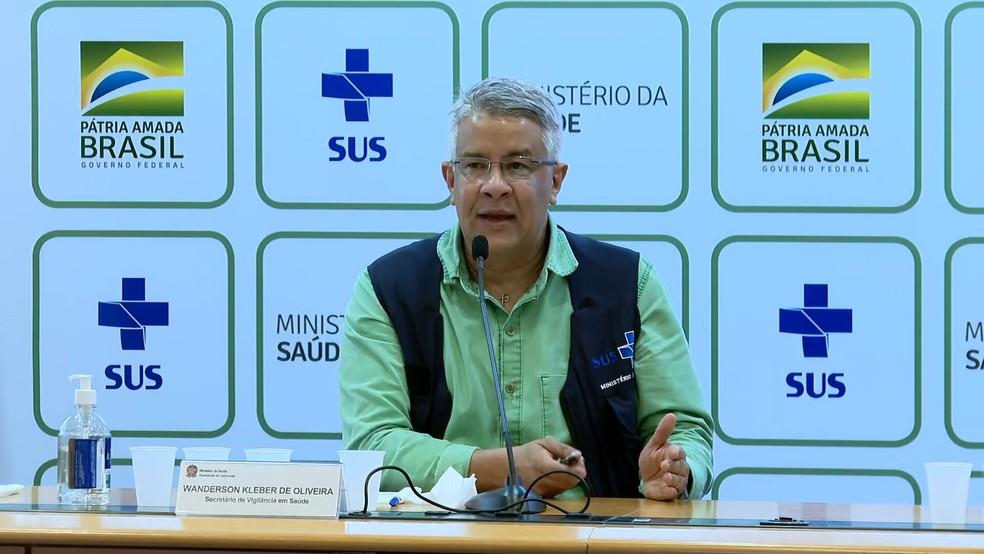 Secretário de Vigilância em Saúde, Wanderson de Oliveira — Foto: TV Globo/Reprodução