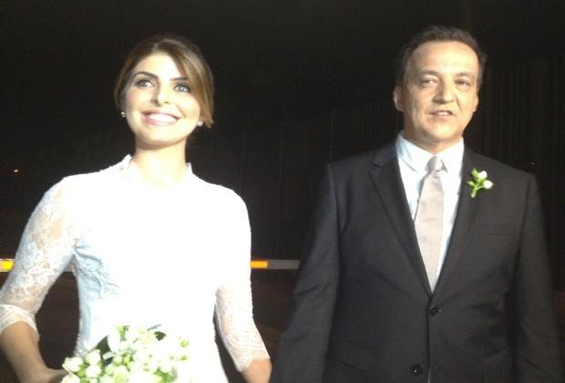 Casamento Cachoeira e Andressa em Goiás (Foto: Carolina Simiema/ G1)