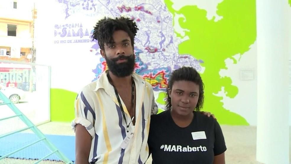 Funcionários de museu no Rio são vítimas de racismo — Foto: Reprodução/TV Globo