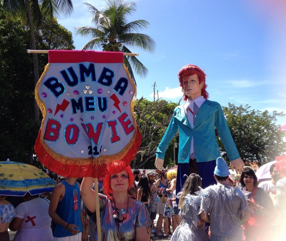 Bloco Bumba meu Bowie, em Olinda — Foto: Lorena Andrade/G1