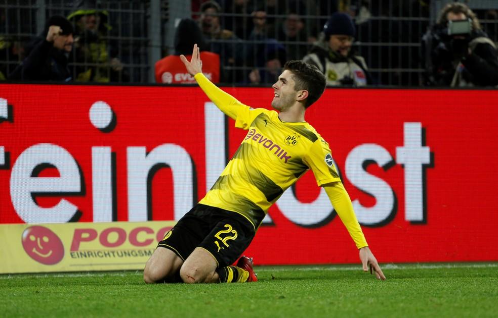 Christian Pulisic é a segunda maior venda da história do Borussia Dortmund — Foto: REUTERS/Leon Kuegeler