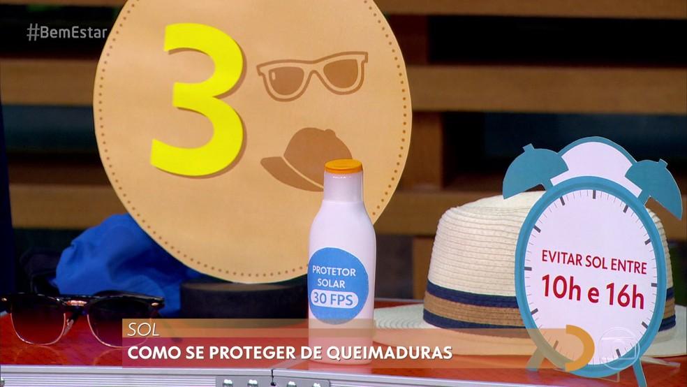 DICA 3 – EVITE QUEIMADURAS — Foto: Reprodução/ TV Globo