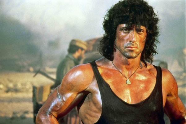 Sylvester Stallone como o personagem Rambo (Foto: Reprodução)