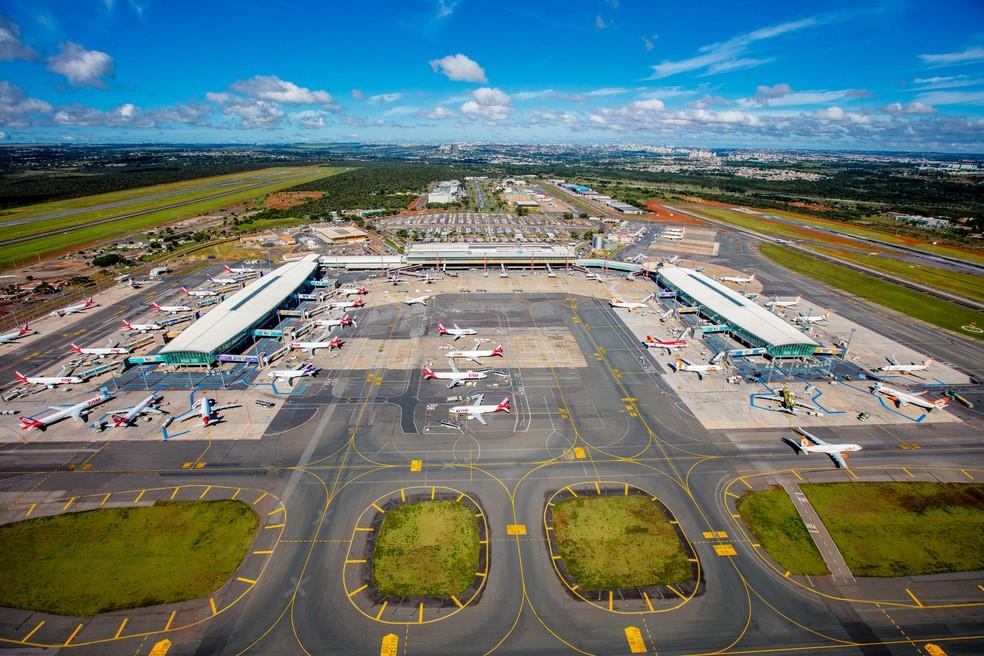Vista aéres do aeroporto de Brasília (Foto: Bento Viana/Inframérica)