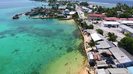 Ilhas Marshall travam luta contra aquecimento global que eleva Pacífico