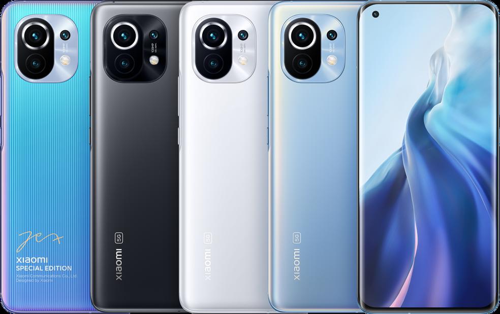 Xiaomi Mi 11 traz câmeras de até 108 MP. — Foto: Divulgação/Xiaomi