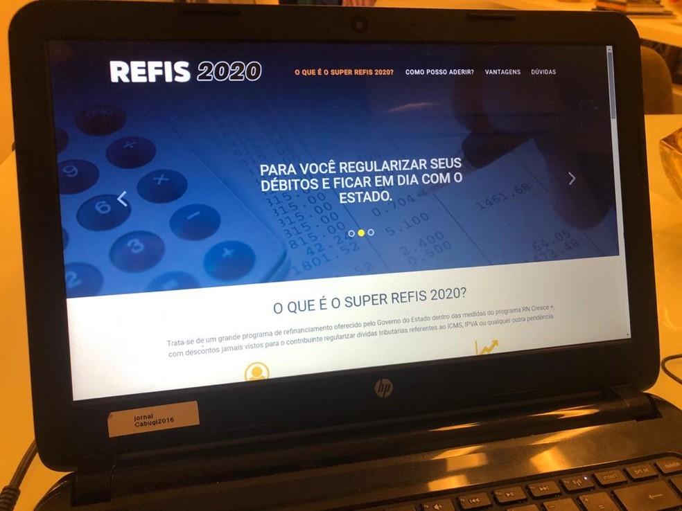 Governo do RN prorroga prazo de adesão ao Super Refis para 29 de dezembro — Foto: Augusto Gomes