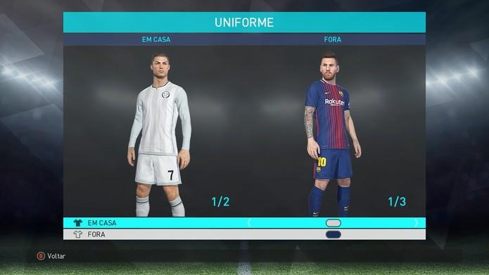 54262db466c14 PES 2019 x PES 2018  confira a comparação gráfica dos games