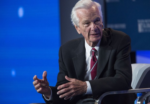 Jorge Paulo Lemann, durante conferência anual do Instituto Milken, em Los Angeles, no dia 30 de abril de 2018  (Foto: Dania Maxwell/Bloomberg via Getty Images)