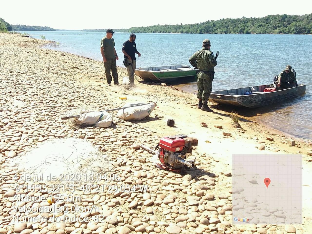 Operação apreende mais de 100 kg de peixe, jacaré abatido e materiais usados para pesca predatória