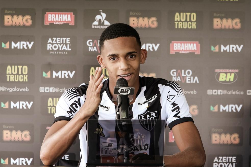 Dylan Borrero, meia do Atlético-MG de apenas 18 anos de idade — Foto: Bruno Cantini/Atlético-MG