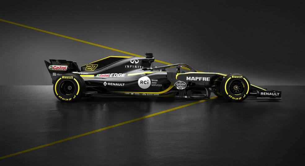Renault RS18, o carro da temporada 2018 de F1 (Foto: Divulgação)