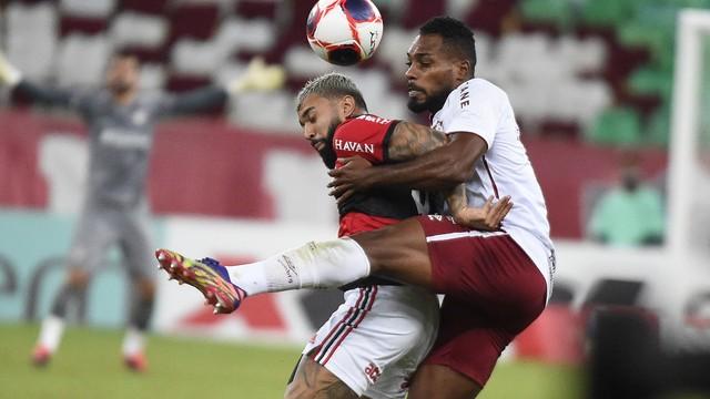 Gabigol e Luccas Claro - Flamengo x Fluminense - Carioca 2021